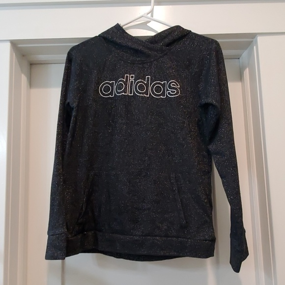 Adidas Shirts  Tops  Thumb Holes Sparkle Hoodie Size -6947